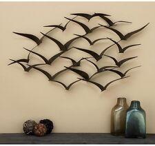 Art Decor Metal Bronze Finish Flock Wall Sculpture Hanging