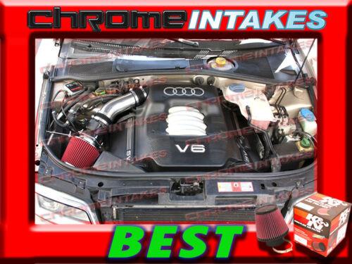 K/&N+BLACK RED 94 95 96 97 98-01 AUDI A4 A6 CABRIOLET 2.8 2.8L V6 AIR INTAKE KIT