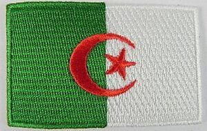 Algerien-Aufnaeher-gestickt-Flagge-Fahne-Patch-Aufbuegler-6-5cm-neu