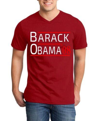 Barack Obama /'08 Men V-Neck President USA Political Democratic Shirts
