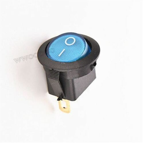 20Pcs Mini 3 Pin Round Blue Spdt On-Off Rocker Switch Snap-In ce