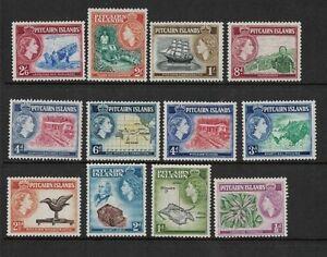 1957 Pitcairn Islands QE II Definitives MUH SG 19/33 Set of 12