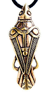 Details about Odins Raven Odin's Hugin Munin Pendant Bronze Band Leather  No  45