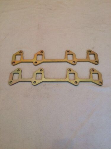 ROVER V8 exhaust manifold flanges X2 a pair BRAND NEW 8m steel LOOK