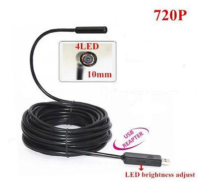 USB Borescope Endoscope 5M Waterproof Inspection Snake Tube Home Video Camera