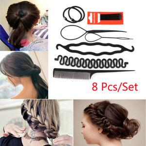 8-Pcs-Set-Styling-Clip-Bun-Maker-Hair-Twist-Braid-Ponytail-Tool-Accessories