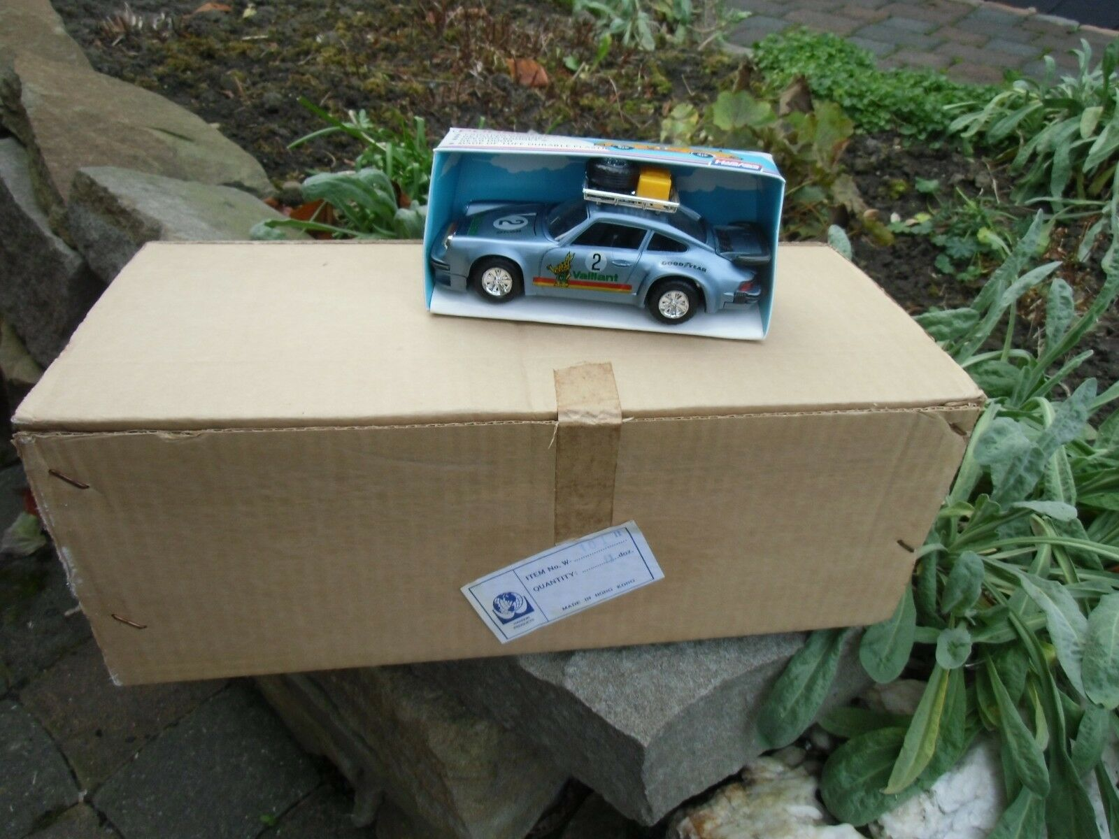 Modelo plástico Vintage Hanson Porsche 934 911 coche Hong Kong Caja de 12 sin abrir