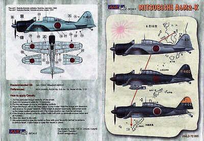 AML Decals 1//72 Mitsubishi A6M2-K # D7205