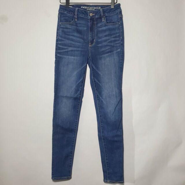 American Eagle Womens Size 4 Super High Rise Jegging Medium Wash Jeans Denim
