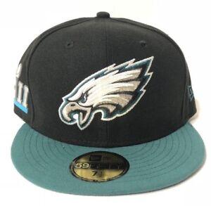 9d252b961a2c8 Philadelphia Eagles New Era NFL17 Black Super Bowl LII Side Patch ...