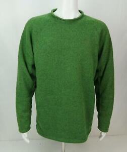 The-North-Face-Sweater-Long-Sleeve-Fleece-Green-Men-039-s-L