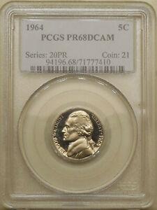 1964-Jefferson-PCGS-PR-68-DCAM-superb-GEM-Deep-Cameo-proof-nickel