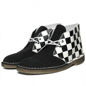 Clarks Originals Mens ** X Desert Boots ** Black&white Combi ** Uk 6,7,8,9 F Stiefel