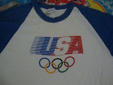 VINTAGE LEVIS 1980 USA OLYMPICS Raglan baseball sleeve T SHIRT Adult size M