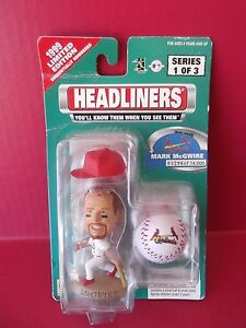 "1999 HEADLINERS ""MARK McGWIRE"" 3.5""in LIMITED EDITION FIGURE CARDINALS"