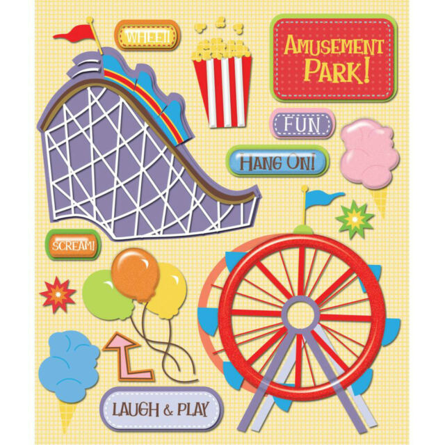 "K&Company Life's Little Occasions ""Amusement Park"" 3D Stickers"