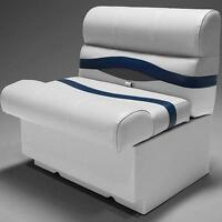 Premium 28 Pontoon Boat Seats In Gray, Blue And Charcoal