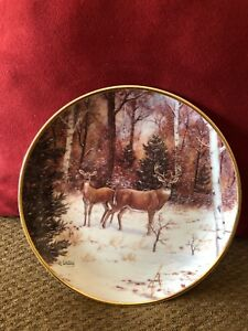 IN-WINTER-WOOD-BY-JJ-WHITING-FRANKLIN-MINT-COLLECTION-PLATE-D-8985