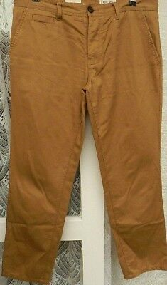 (rif. 486) Next-taglia 36r-men 's Beige Gamba Dritta Pantaloni Di Cotone 100%-mostra Il Titolo Originale Bello A Colori