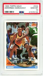 ANFERNEE-HARDAWAY-1993-Topps-GOLD-334-Rookie-Card-RC-Perfect-PSA-10