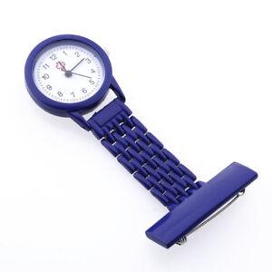 Dark-Blue-Quartz-Movement-Nurse-Brooch-Fob-Tunic-Pocket-Metal-Watch-Watch-Y2Q9