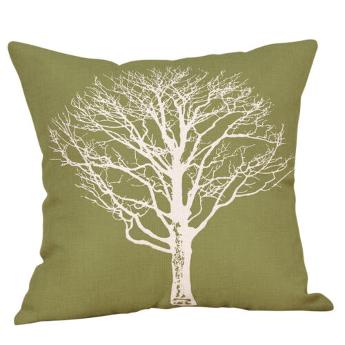 """Cover Collection Green Lime Natural Cream Cushion Covers 18/""""x18/"""" 45cm x 45cm"""