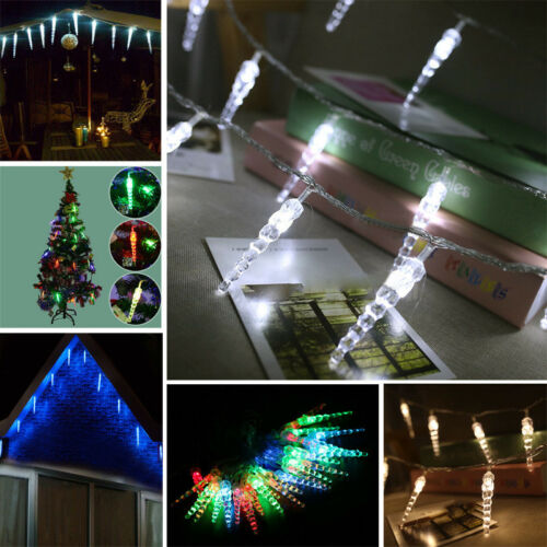 MAINS POWERED 5M INDOOR OUTDOOR XMAS PARTY FROZEN ICICLE FAIRY STRING LED LIGHTS