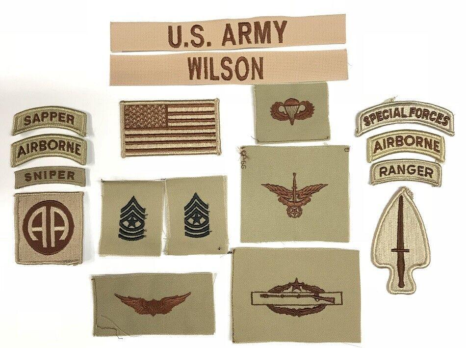 17 US ARMY patchDCU Desert Uniform Konvolut 82nd SOCOM SOCOM SOCOM Airborne Ranger Sniper d4c8a6