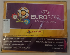 """/""""German/"""" 10 x Panini Euro 2012 Sealed Packets of 5 Stickers 50 stickers"""
