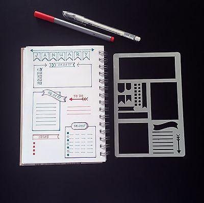 Stencil, Bullet Journal Stencil, Planner Stencil, Bullet Journal Planer Bookmark