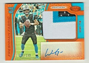 2019-Certified-FRESHMAN-FABRIC-ORANGE-AUTO-PATCH-RELIC-215-WILL-GRIER-RC-80-199
