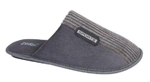 Mens Mule Slippers Zedzzz JOE Textile Impregnated Outsole