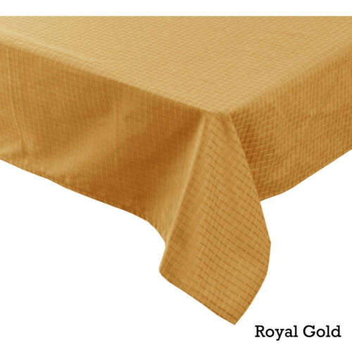 6-8 Dobby Checkered Jacquard Table Cloth Round Rectangle 4-6 8-10 Seater