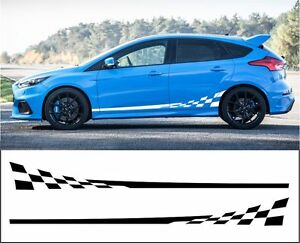 Details About Ford Focus Side Stripes Decals Stickers Graphic Side Stripe Both Sides