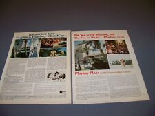 VINTAGE..(2PC) PLAYBOY CLUB/PLAZA MIAMI BEACH..ORIGINAL SALES ADS...RARE! (314M)