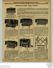 1929 PAPER AD American Kamp Kook Cook Camp Stove Oven Fry Pan Fire Grub Stake