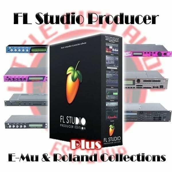 FL Studio 20 Producer + E-Mu & Roland 70Gb Sample Library Mega Bundle