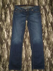 MISS-BISOU-MB-29-Low-Rise-Designer-Faded-Feathered-BOOTCUT-Stretch-Jeans-32x34
