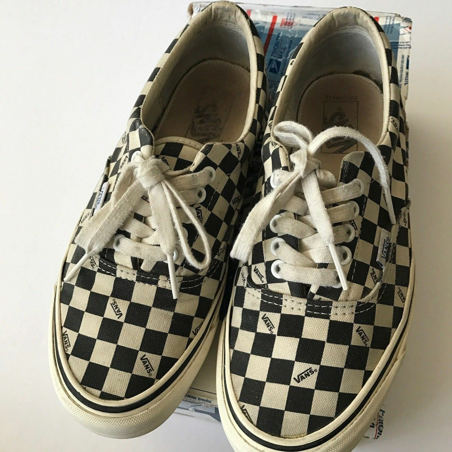 Vans Vault Checkerboard OG Era LX sz.9.5 Checkered Black White