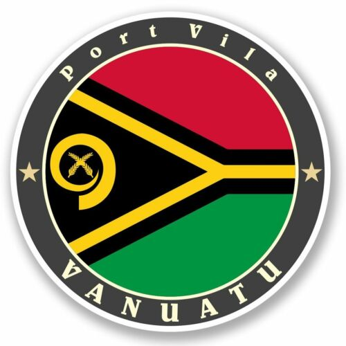 2 x Vanuatu Vinyl Sticker Laptop Travel Luggage Car #5085