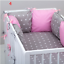 PILLOW-BUMPER-made-form-6-cushions-for-cot-bed-GREY-PINK-BLUE-NAVY-STARS thumbnail 5