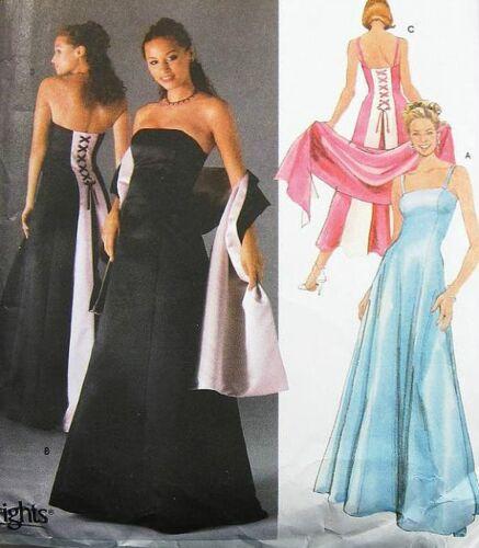 Simp 5235 Misses Evening Dress 2 Lgths /& Shawl Pattern
