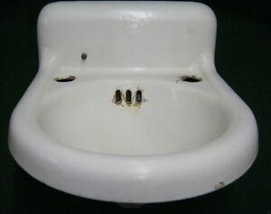 Image Is Loading Antique Bathroom Powder Room Sink Porcelain Small 14