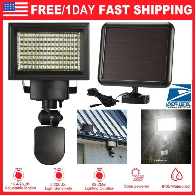 15W120LED Security Motion Sensor Solar floodlight Light Outdoor Garden Spotlighs