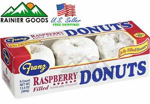 Northwest Franz Raspberry Filled Powdered Donuts Pastries 6pcs 1 Box Ebay