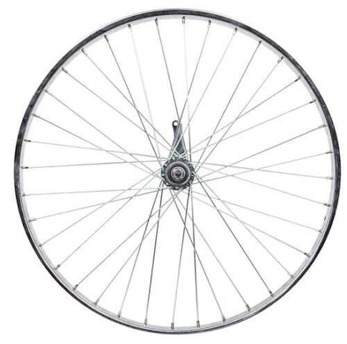 New 26 x 1 3//8 Coaster Brake Steel Chrome Bike Rear Wheel
