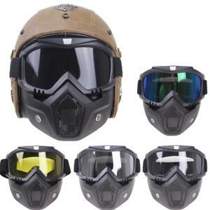Motorcycle-Helmets-Goggle-Mask-Vintage-Open-Face-Cross-Headwear-Head-Protection