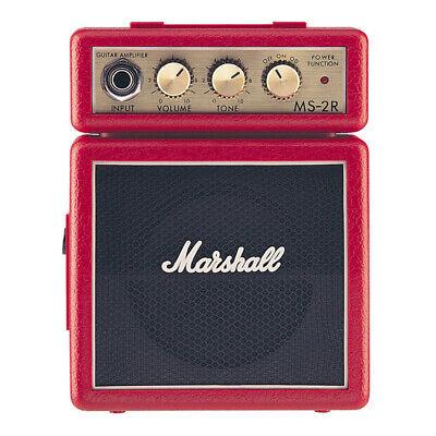 red micro guitar marshall amp small bass speaker pocket musicians amplifier new ebay. Black Bedroom Furniture Sets. Home Design Ideas