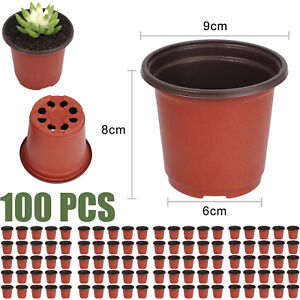 100pcs-Plastic-Garden-Nursery-Pots-Flowerpot-Seedlings-Planter-Containers-Set