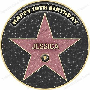Fabulous Personalised Hollywood Film Star Cinema Party Edible Icing Funny Birthday Cards Online Overcheapnameinfo
